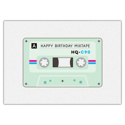 verjaardagskaart cassette mixtape